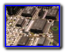 Digital electronics integrated circuits on a PCB